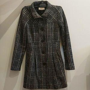 Gray Plaid Esprit Coat Size 0
